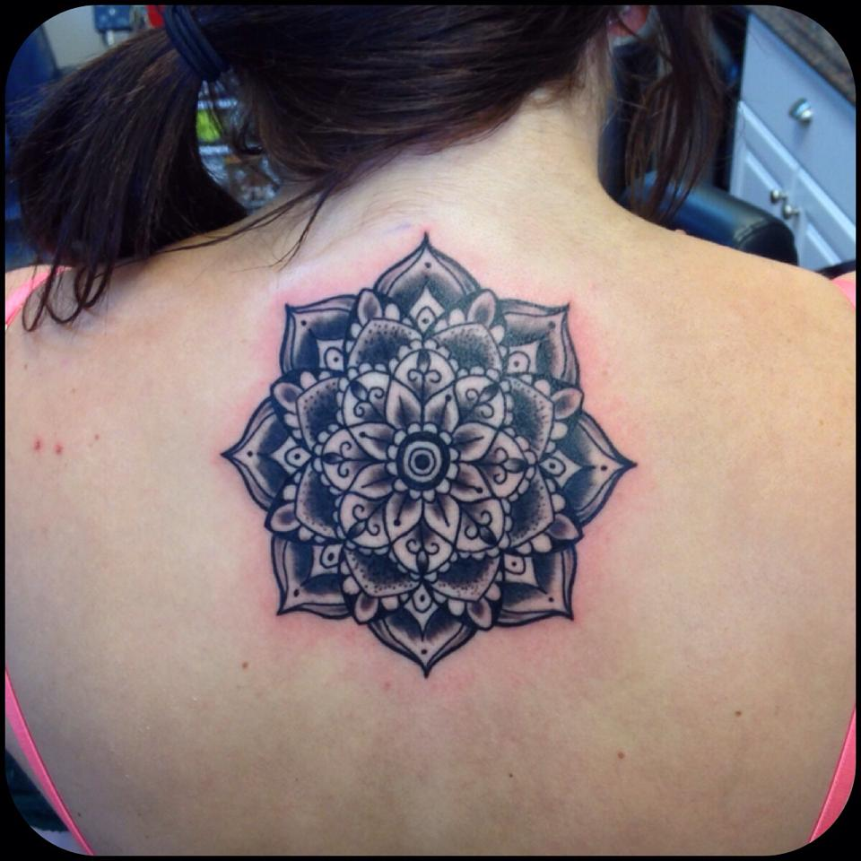 Mandala tattoo by Johnny Madigan