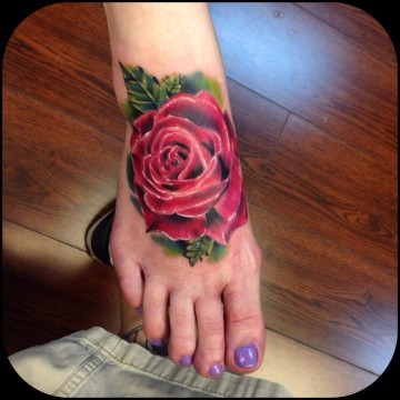 Foot Rose by Johnny